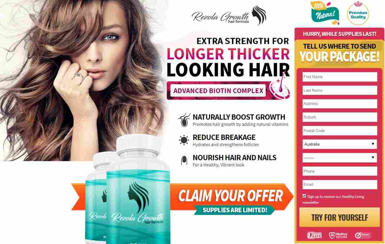 Rezola Growth Hair pills